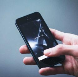 application uber sur téléphone